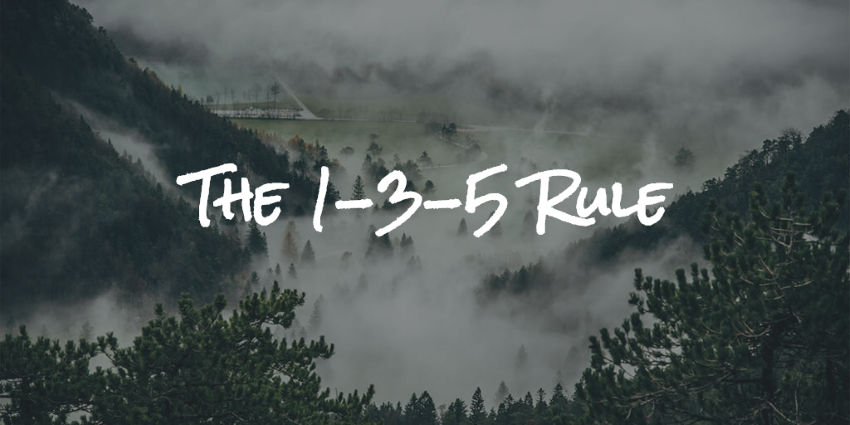1-3-5-rule is a time management system